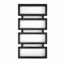 Полотенцесушитель водяной высотой 100 см 500x1000, Genesis-Aqua Quattro Черный, 30x30 ВР 1/2 д Quattro 50 х 100 см