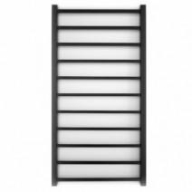 Полотенцесушитель для квартиры водяной 500x1000, Genesis-Aqua Flat Черный, 30x15 ВР 1/2 д Flat 50 х 100 см